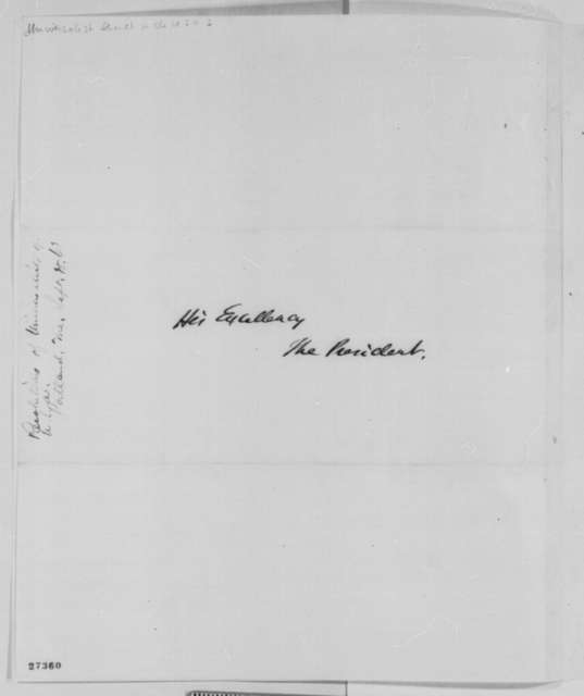 Israel Washburn Jr. to Abraham Lincoln, Tuesday, October 20, 1863  (Sends resolutions of the General Convention of Universalists in the United States)