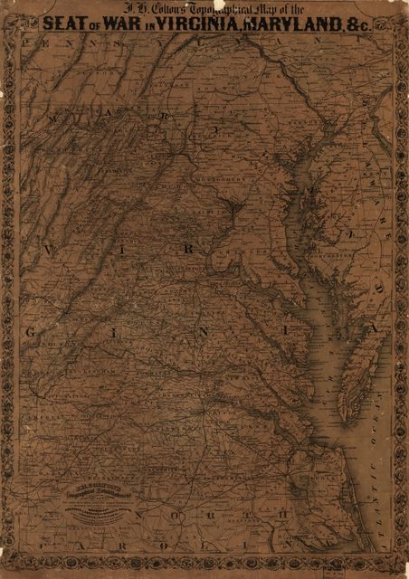 J. H. Colton's topographical map of the seat of war in Virginia, Maryland &c.