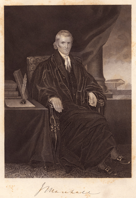 J. Marshall : chief justice of the United States