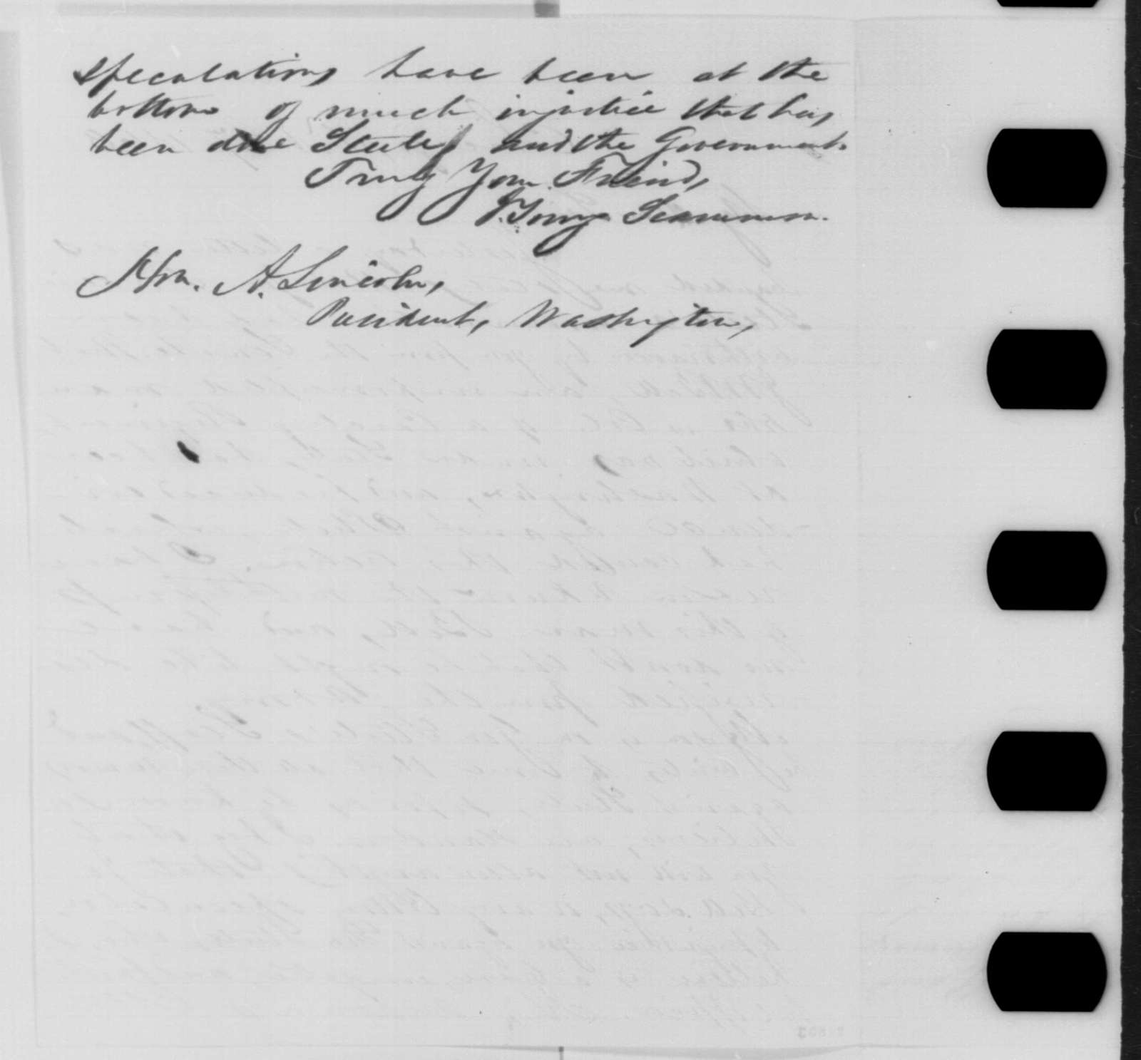 J. Young Scammon to Abraham Lincoln, Tuesday, February 17, 1863  (Writes on behalf of General Frederick Steele)
