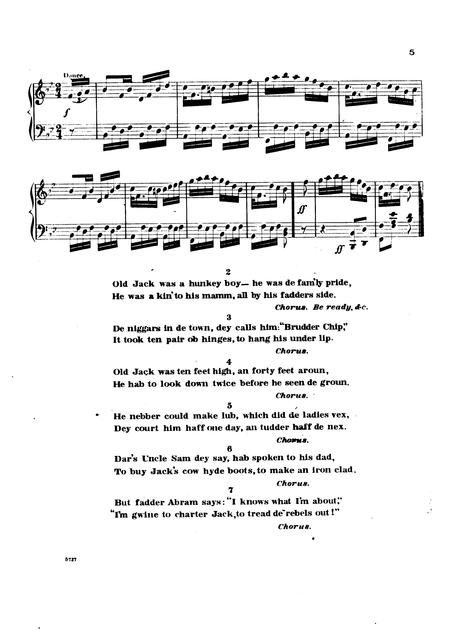 Jack on the green: plantation song; composed for and sung by Bryant's Minstrels by Dan. D. Emmett, author of U.S.G., the famous new national walk around.