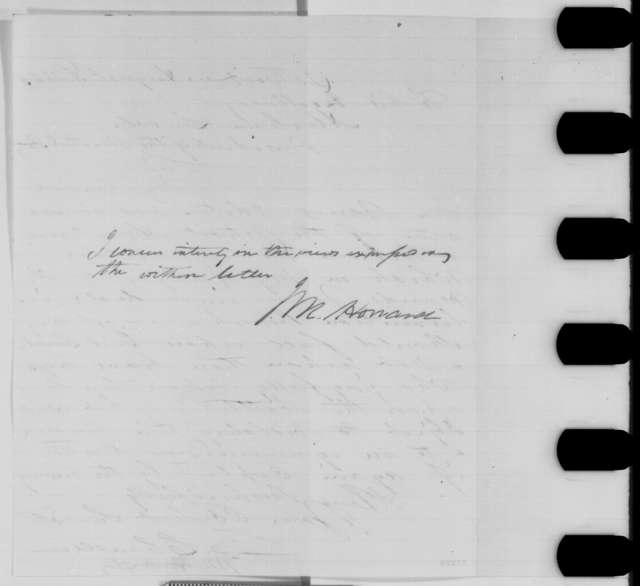 Jacob M. Howard and Zachariah Chandler to Abraham Lincoln, Monday, August 03, 1863  (Cover letter)