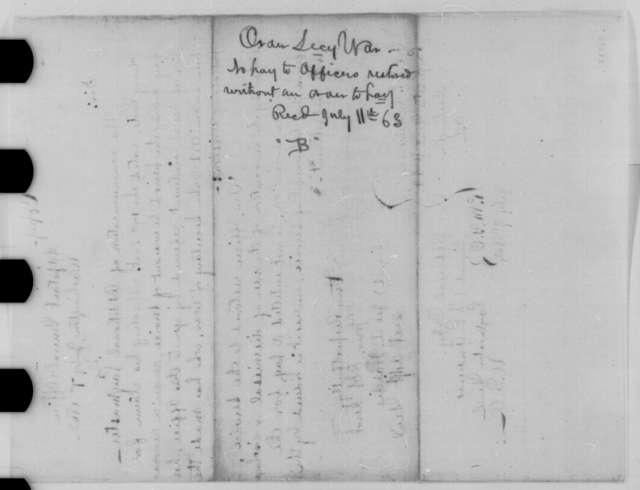 James A. Hardie to Timothy P. Andrews, Tuesday, July 07, 1863  (Henry Foote and payment for time he was out of the service)