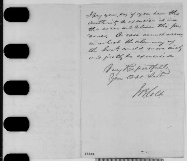 James B. Colt to William Hoffman, Wednesday, August 12, 1863  (Parole of Confederate prisoner)