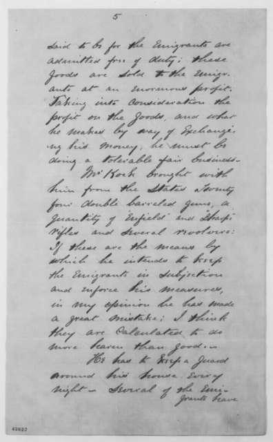 James De Long to Henry Conard, June 25, 1863  (Bernard Kock and colony on Ile a Vache)