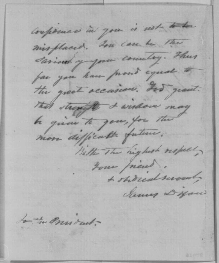 James Dixon to Abraham Lincoln, Saturday, November 14, 1863  (Certificates of election for members of Congress from Connecticut)