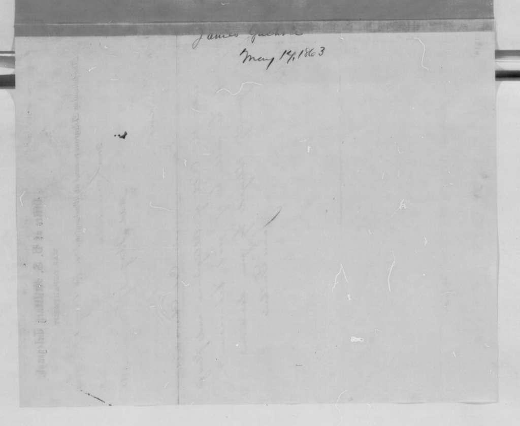 James Guthrie to Abraham Lincoln, Sunday, May 17, 1863  (Telegram concerning Samuel B. Churchill)
