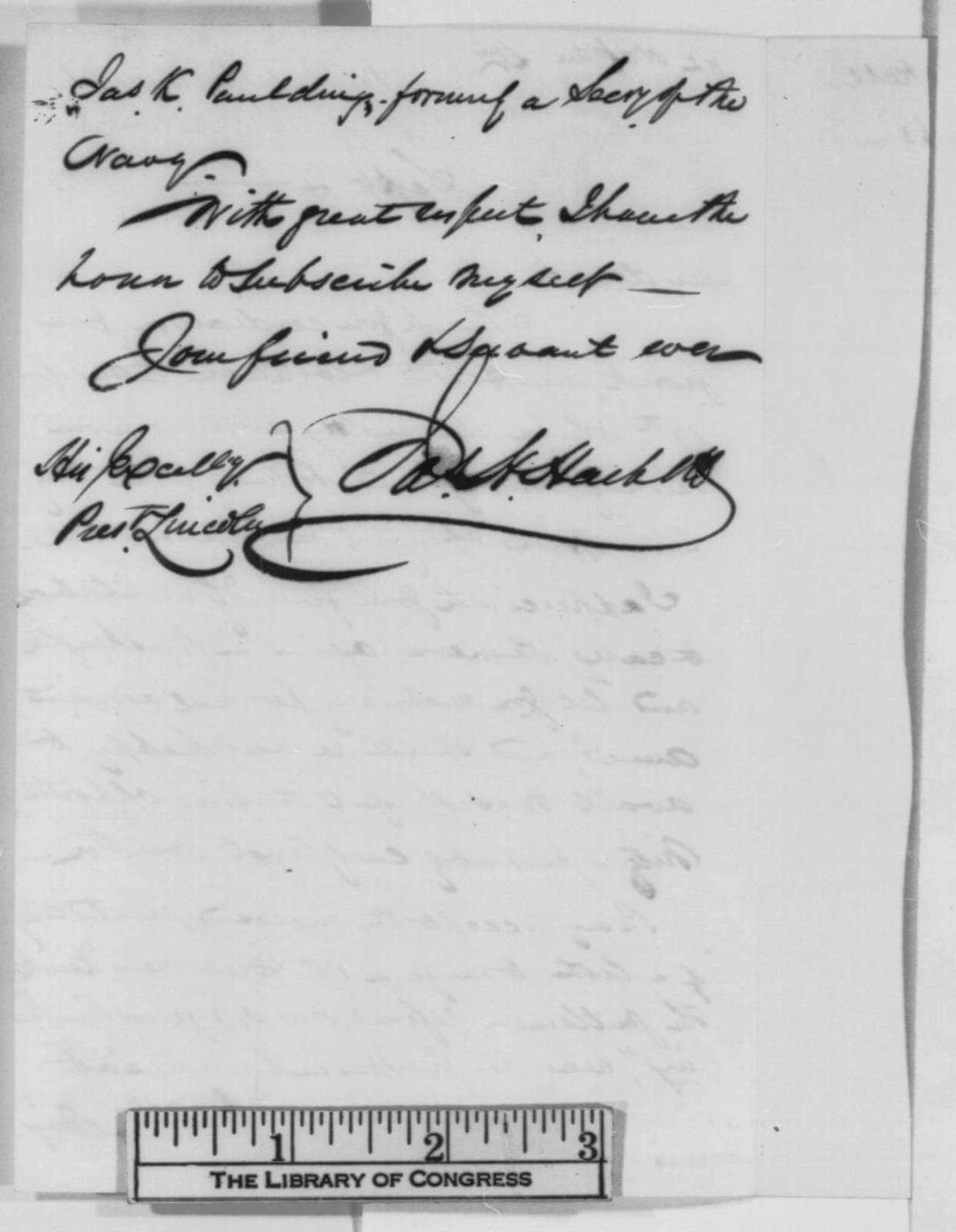 James H. Hackett to Abraham Lincoln, Friday, September 04, 1863  (Acknowledges Lincoln's letter of August 17)