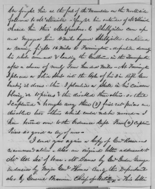 James H. Stokes to Montgomery Blair, Saturday, October 24, 1863  (Seeks promotion to brigadier general)