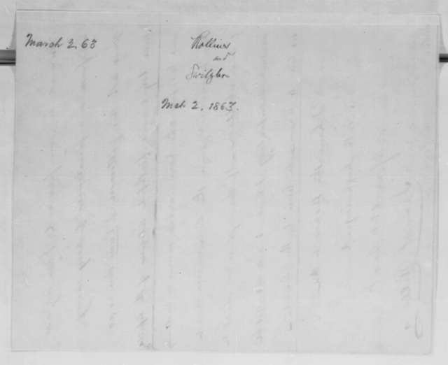 James S. Rollins to Abraham Lincoln, Monday, March 02, 1863  (Recommends William Switzler)