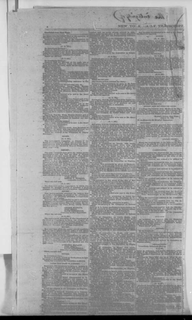 James W. White, Tuesday, September 15, 1863  (Newspaper Clipping from New York Daily Transcript of decision by James White concerning habeas corpus)