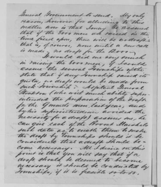 Joel Parker to Abraham Lincoln, Tuesday, July 21, 1863  (Response to Lincoln's letter of July 20)