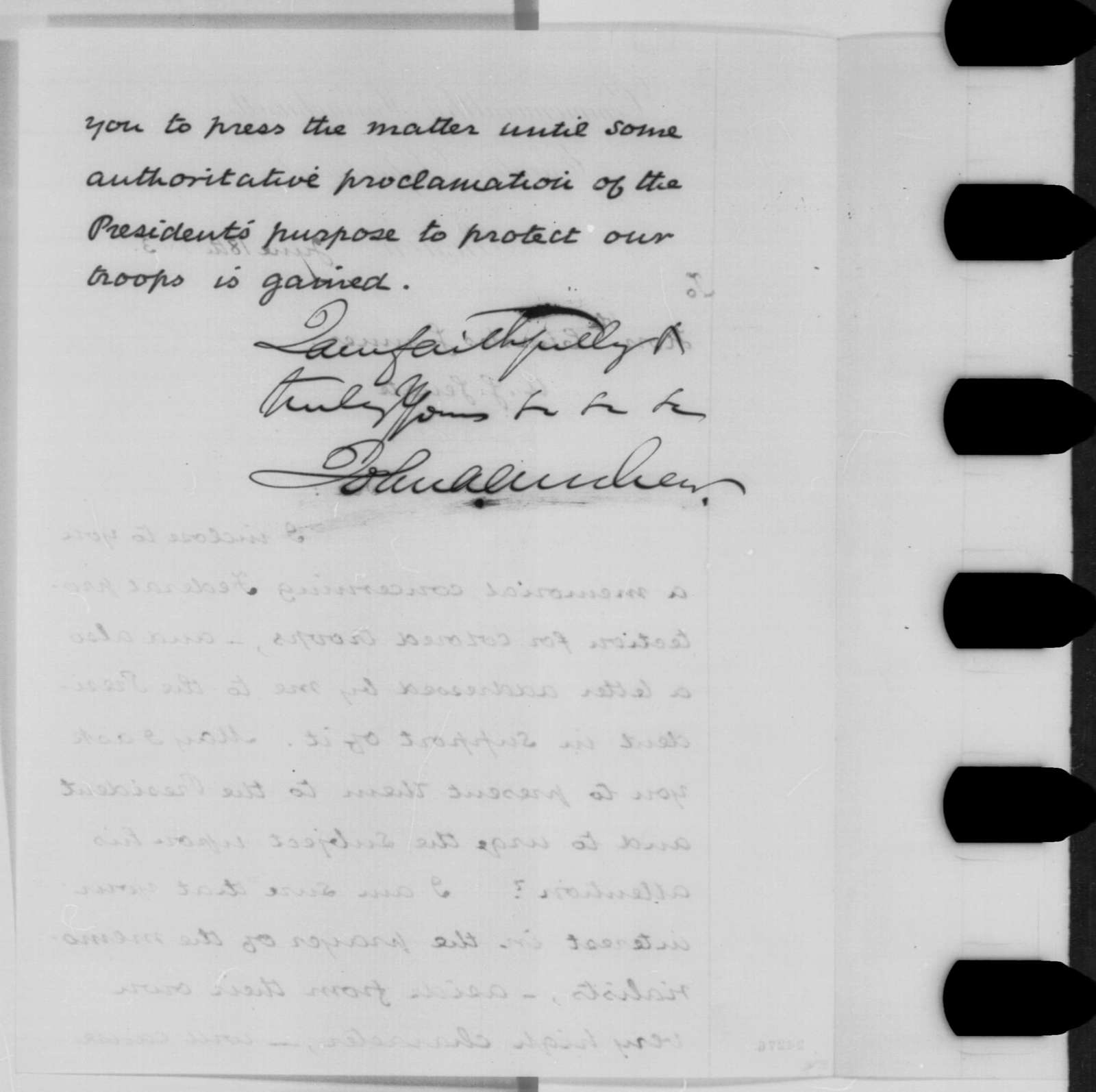 John A. Andrew to Charles Sumner, Thursday, June 18, 1863  (Protection for black soldiers)