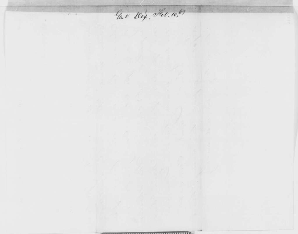 John A. Dix to Abraham Lincoln, Tuesday, February 10, 1863  (Telegram sending reports from Richmond newspapers)