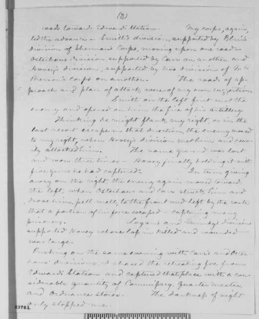 John A. McClernand to Abraham Lincoln, Friday, May 29, 1863  (Military affairs at Vicksburg)