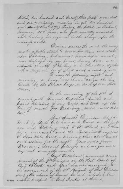 John A. McClernand to John A. Rawlins, Wednesday, June 17, 1863  (Report on operations of 13th Army Corps since March 30)