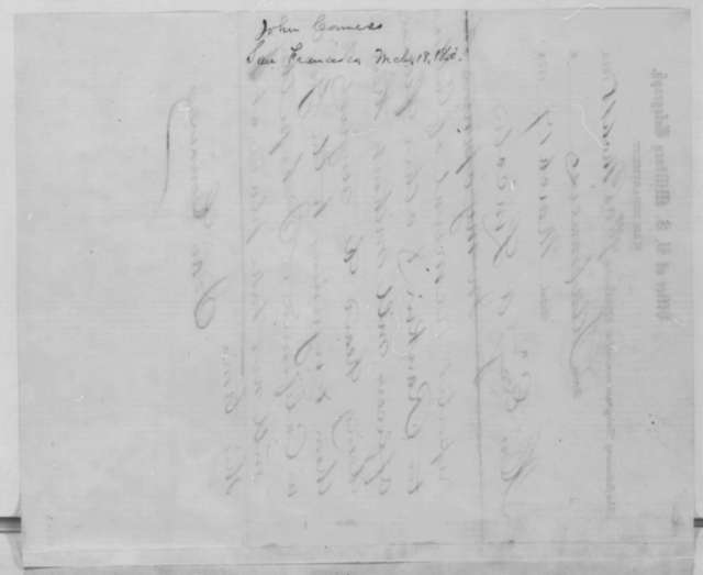 John Conness to Abraham Lincoln, Tuesday, March 17, 1863  (Telegram concerning the removal of office holders in California)