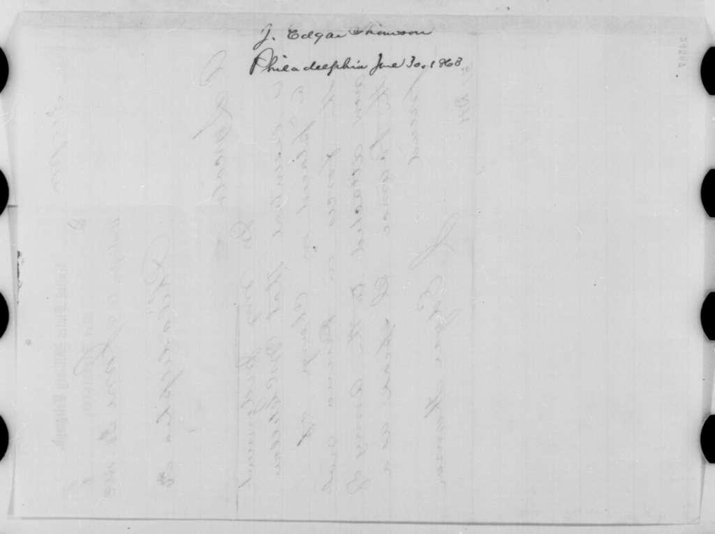 John E. Thomson to Abraham Lincoln, Tuesday, June 30, 1863  (Telegram recommending McClellan for command in Pennsylvania)