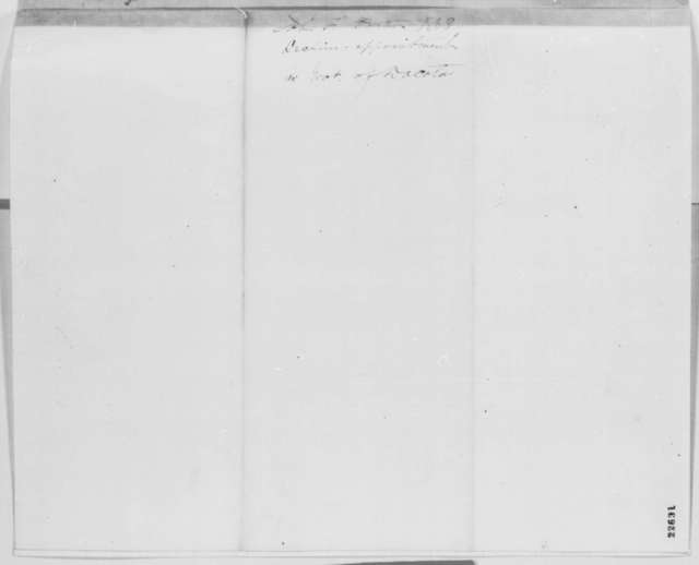 John F. Potter to Abraham Lincoln, Wednesday, March 25, 1863  (Declines appointment)
