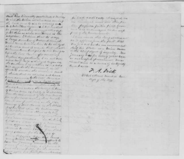 John J. Crittenden to Abraham Lincoln, Monday, January 19, 1863  (Case of Derrick January; endorsed by Lincoln, January 20, 1863; Samuel R. Curtis and Franklin A. Dick)