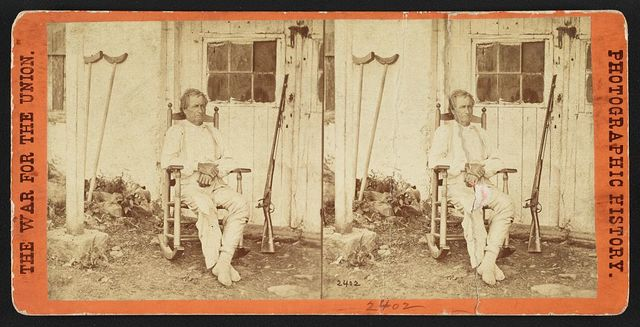 John L. Burns, the old hero of Gettysburgh (i.e. Gettysburg), recovering from his wounds