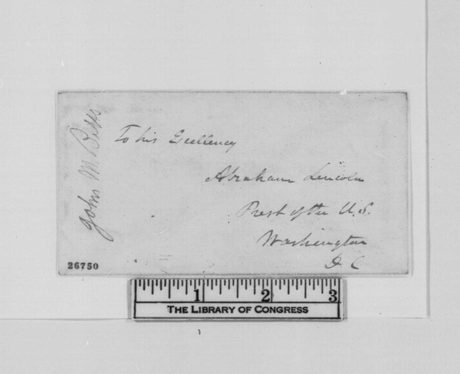 John M. Botts to Abraham Lincoln, Wednesday, September 30, 1863  (Seeks permission to purchase supplies)