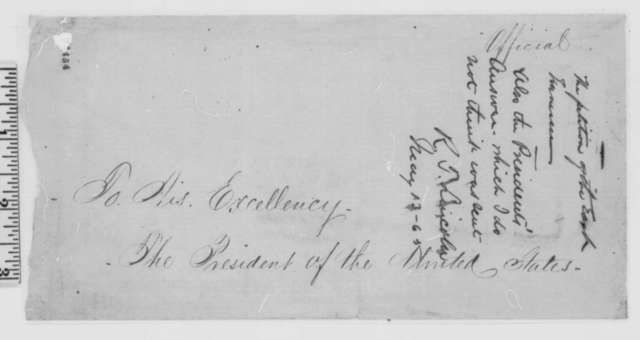 John M. Fleming and Robert Morrow to Abraham Lincoln, Saturday, August 08, 1863  (Present petition from East Tennessee; endorsed by Robert T. Lincoln, May 13, 1865)