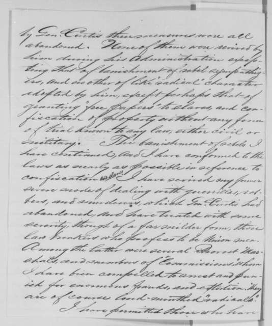 John M. Schofield to Abraham Lincoln, Friday, August 28, 1863  (Reply to Lincoln's telegram of August 27 regarding the massacre at Lawrence, Kansas)