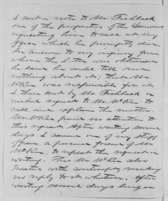 John M. Schofield to Abraham Lincoln, Tuesday, July 14, 1863  (Arrest of William McKee)