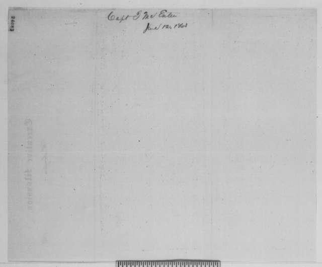 John McEntee to George H. Sharpe, Friday, June 12, 1863  (Telegram concerning location of Lee's army)