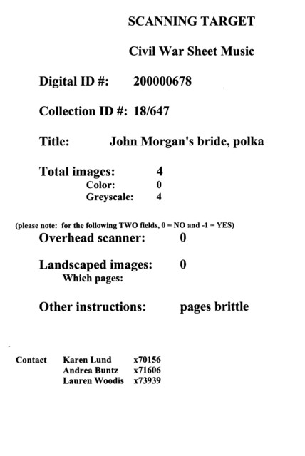 John Morgan's bride, polka