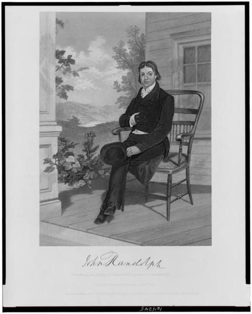 John Randolph / from the original painting by Chappel in the possession of the publishers.