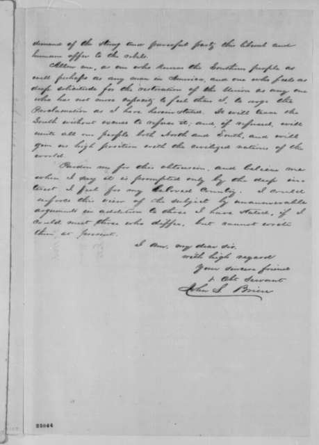 John S. Brien to William H. Seward, Tuesday, July 21, 1863  (Proclamation of amnesty)
