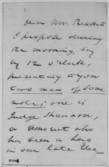 John W. Forney to Abraham Lincoln, Thursday, November 12, 1863  (Introductions)