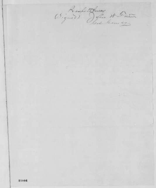 John W. Foster to Jeremiah T. Boyle, Tuesday, January 06, 1863  (Cover letter)