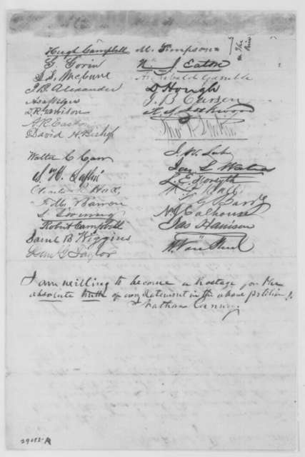 John Whitehill, et al. to Abraham Lincoln, [November 1863]  (Petition on behalf of Samuel B. McPheeters; endorsed by Lincoln, December 22, 1863)