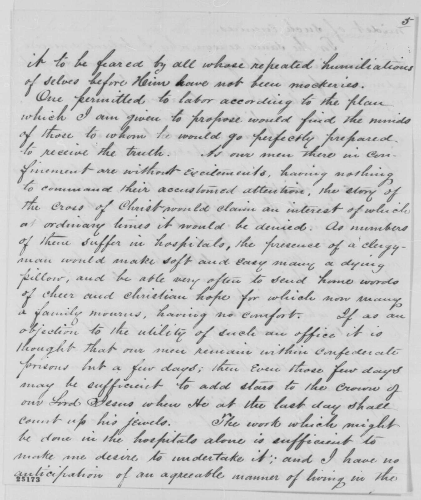 Joseph H. Bradley to Abraham Lincoln, Tuesday, July 28, 1863  (Minister for prisoners of war in Richmond)