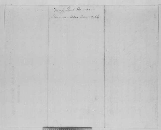 Joseph Hooker to Abraham Lincoln, Monday, October 12, 1863  (Telegram recommending that General Slocum be sent to Missouri)