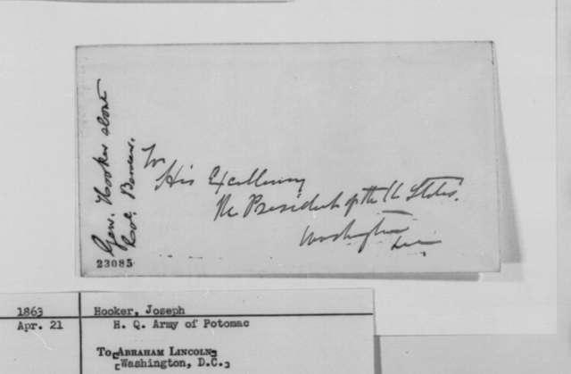 Joseph Hooker to Abraham Lincoln, Tuesday, April 21, 1863  (Promotion of Colonel Hiram Berdan)