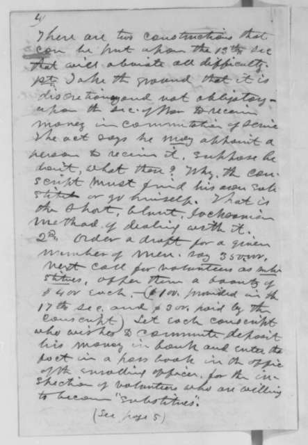 Joseph Medill to Abraham Lincoln, Friday, May 15, 1863  (Thoughts on the Conscription Act)