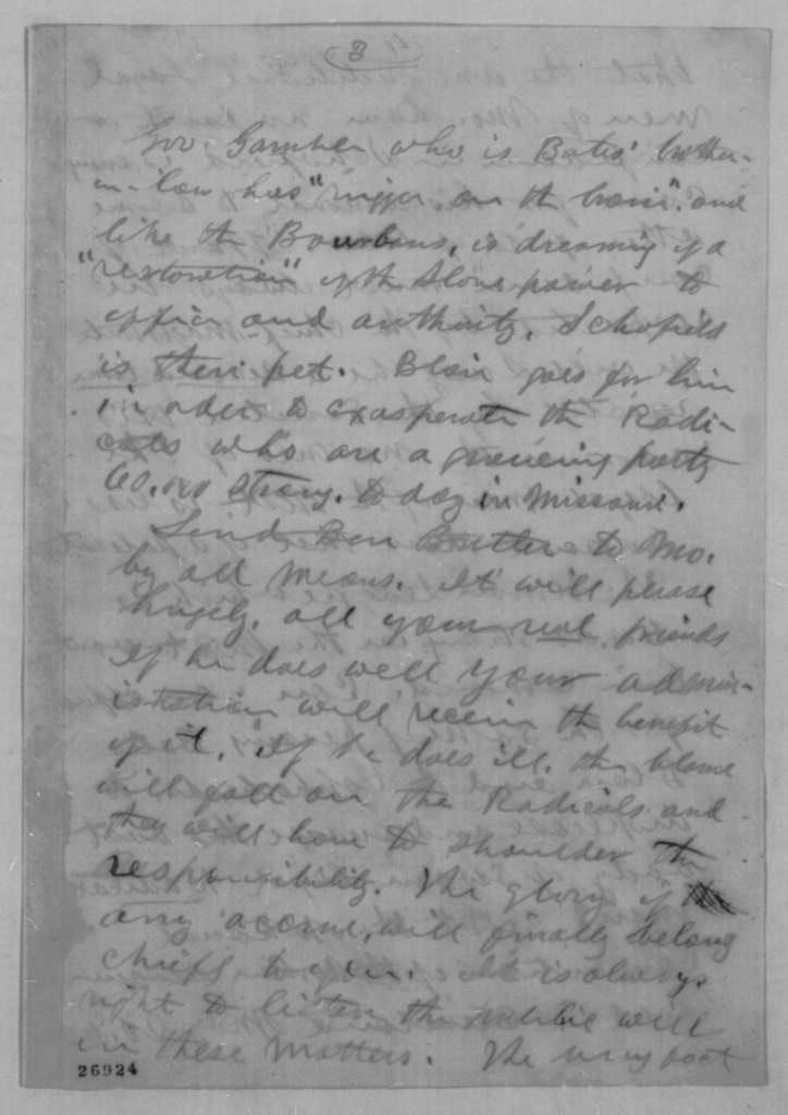 Joseph Medill to Abraham Lincoln, Saturday, October 03, 1863  (Urges removal of John M. Schofield)