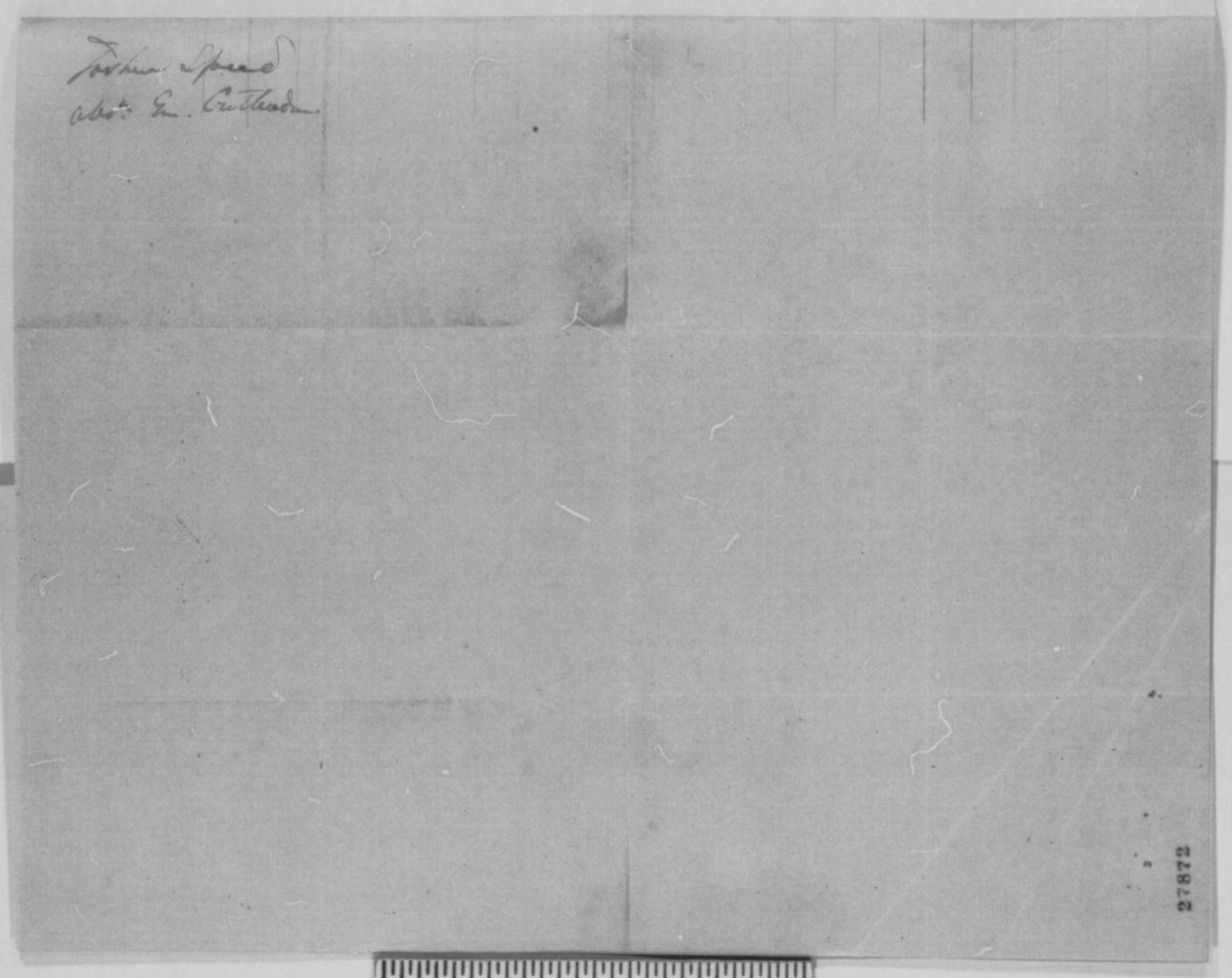 Joshua F. Speed to Abraham Lincoln, Friday, November 06, 1863  (Writes on behalf of Thomas L. Crittenden)