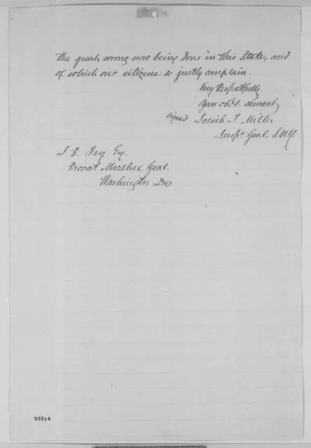 Josiah T. Miller to James B. Fry, Monday, August 10, 1863  (Conscription in New York)