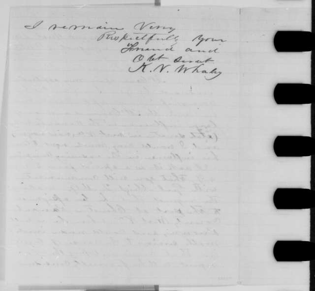 Kellian V. Whaley to Abraham Lincoln, Monday, August 10, 1863  (Assignment for Thomas McCann)