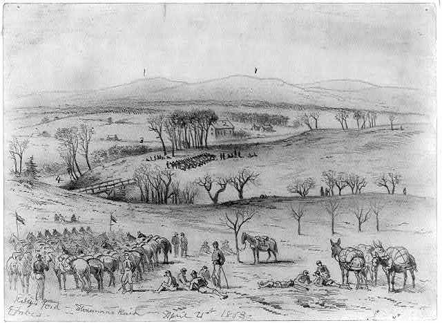 Kelly's Ford - Stonemans raid, April 21st 1863