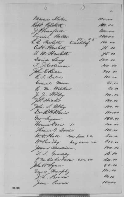 Kentucky Citizens, Saturday, January 31, 1863  (List of fines assessed and collected by military authorities; endorsed by Lincoln, Jan. 31., 1863)