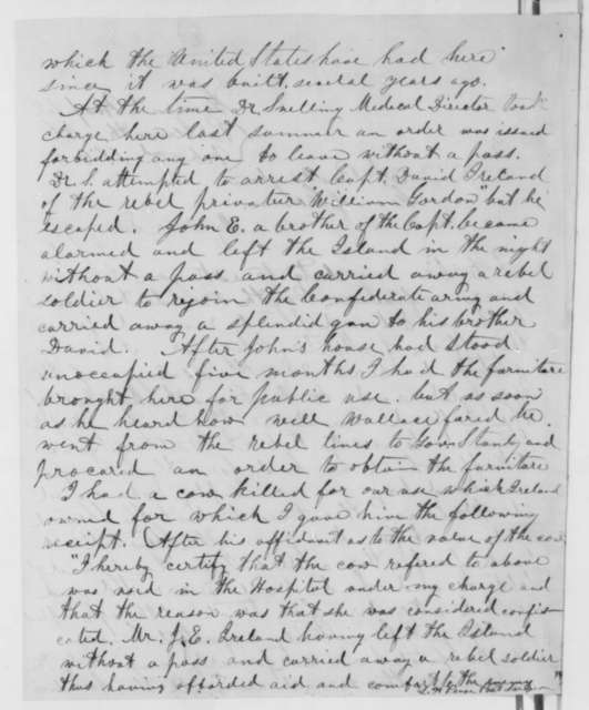 L. H. Pease to William A. Buckingham, Monday, February 02, 1863  (Urges removal of Edward Stanly as military governor of North Carolina; endorsed by Buckingham to Lincoln, Feb. 20, 1863)