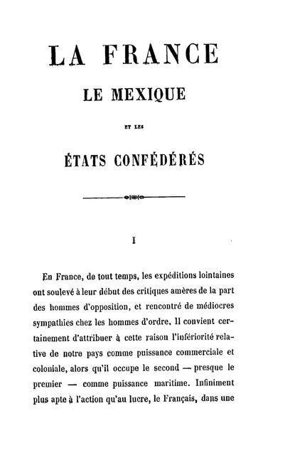 La France, le Mexique et les États Confédérés.