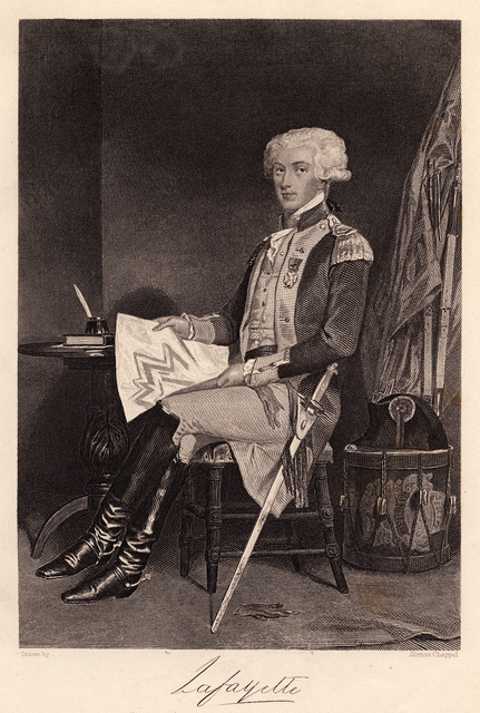 Lafayette : from an authentic painting in the possession of the publishers