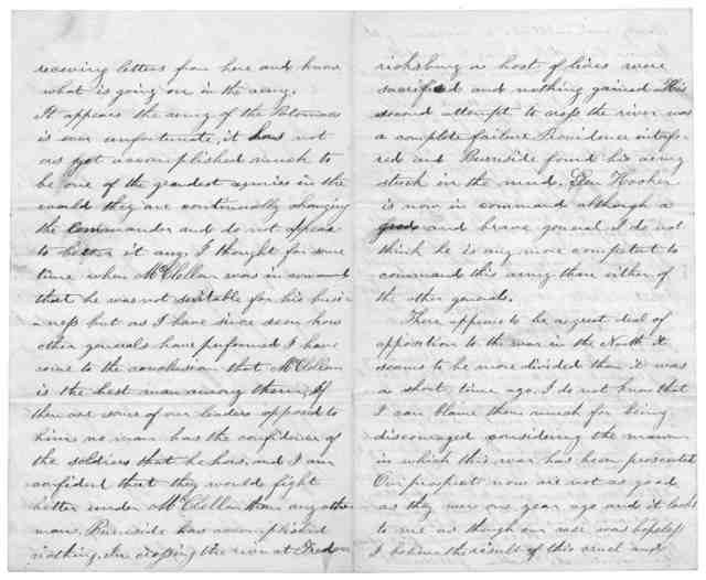Letter from John S. Smith to Juliana Smith Reynolds, February 7, 1863